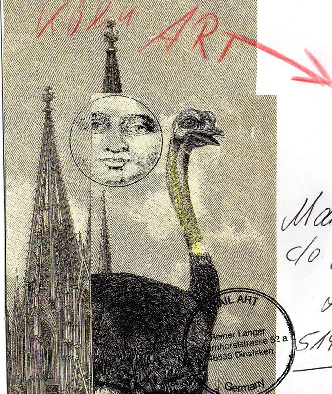 MAIL ART Mona Schwenker ( Vorderseite )