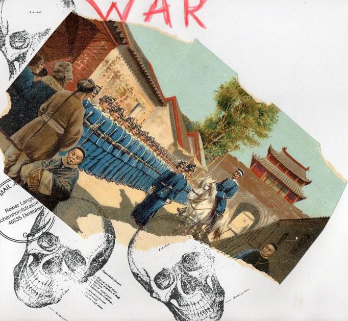 "AUSGEHENDE MAIL - ART PROJEKT "" WAR "" by Reiner Langer   an HORST TRESS"