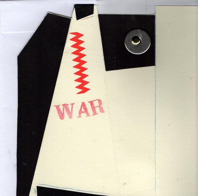"""Eingehende MAIL -ART Projekt AGAINST """" WAR """" by Reiner Langer   von Walter Pennucchi , ITALIEN"""