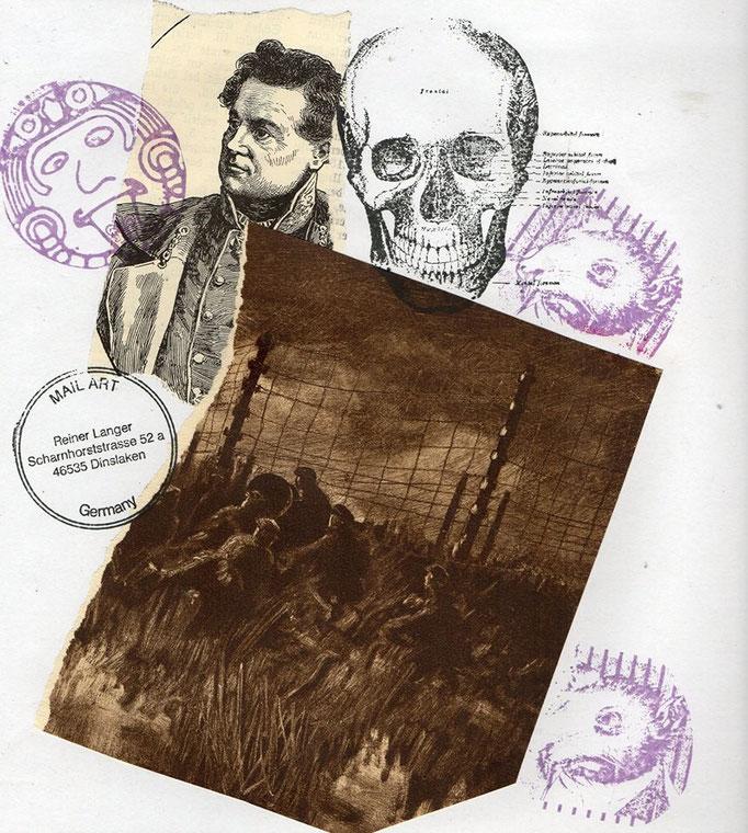 """Ausgehende MAIL - ART Projekt AGAINST """" WAR """" by Reiner Langer   an Hanna Bayer , DEUTSCHLAND"""