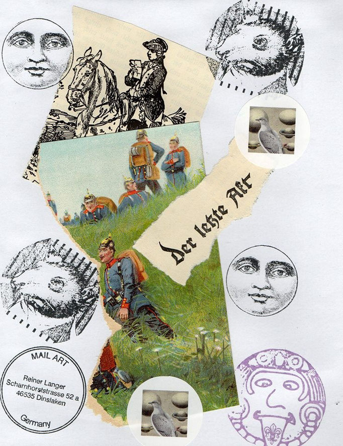 "Ausgehende MAIL -ART Projekt AGAINST "" WAR "" by Reiner Langer   an PLANER , RUSSLAND"