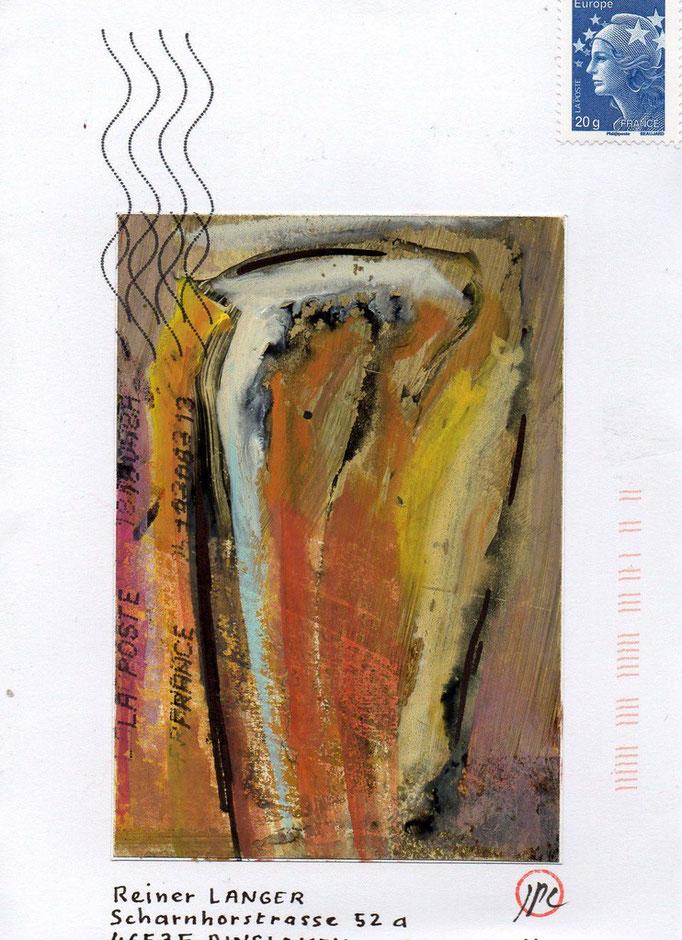 """Eingehende MAIL - ART Projekt """" WAR """" by Reiner Langer   von Jean - Pierre Comes , FRANKREICH"""