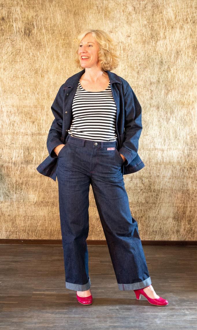 lässige Rockamoon Jeansjacke, leichte A-Form