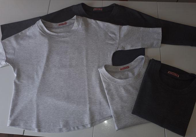 Damen T-Shirts Baumwolle, grau