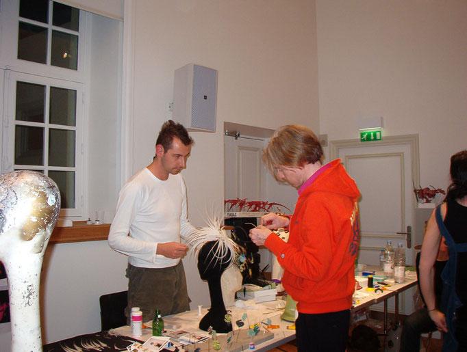 Markus Ehrhard (links) und Philip Treacy