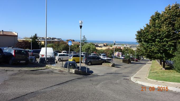 Blick von der Altstadt von Tarquinia