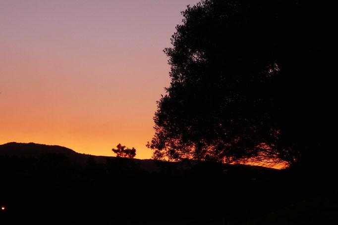 Ca. 19.00 Uhr ist Sonnenuntergang und die Temperatur bei milden 24 Grad