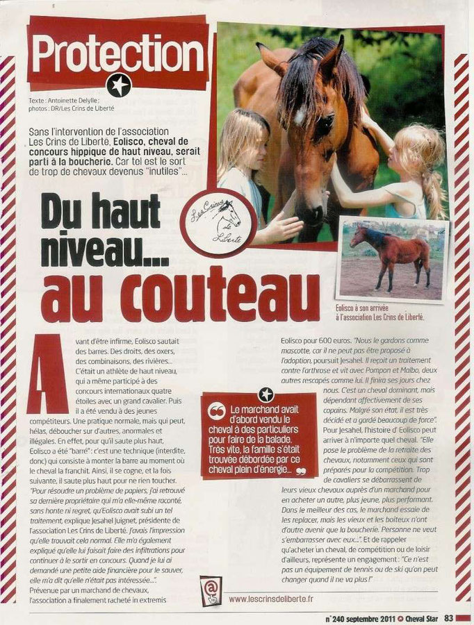Cheval Star - Septembre 2011