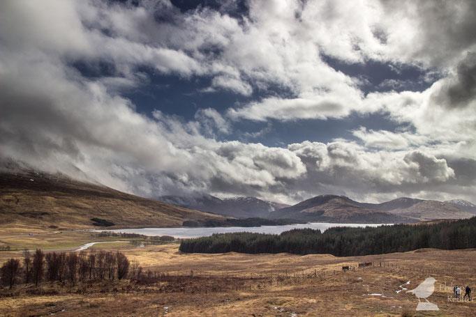 Schauerwetter über Schottland