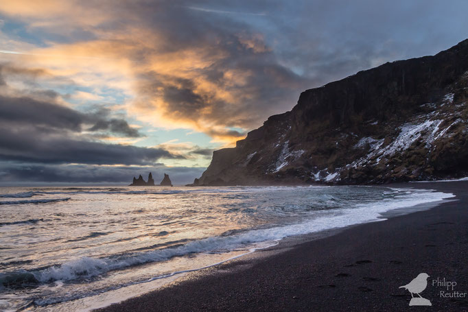 Sonnenuntergang über Island