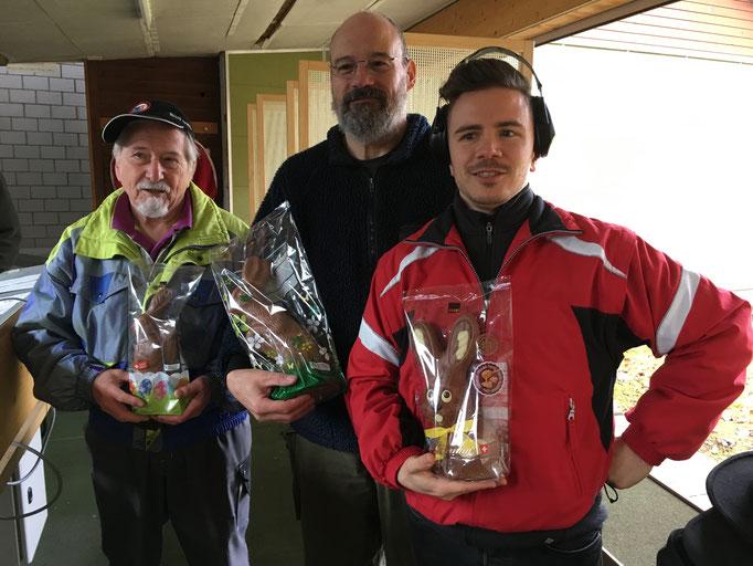2. Ostermatch 2018, Die Sieger: Peter, Corsin und Mano