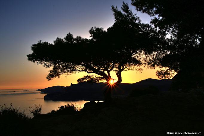 Route des Crêtes - sunset im Juni