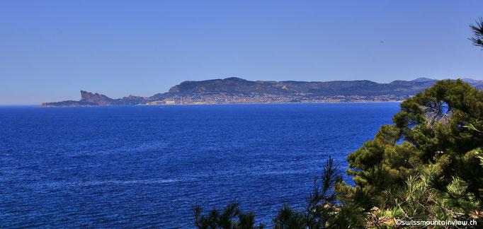 Ausblick auf der Wanderung von La Madrague Richtung Port d'Alon