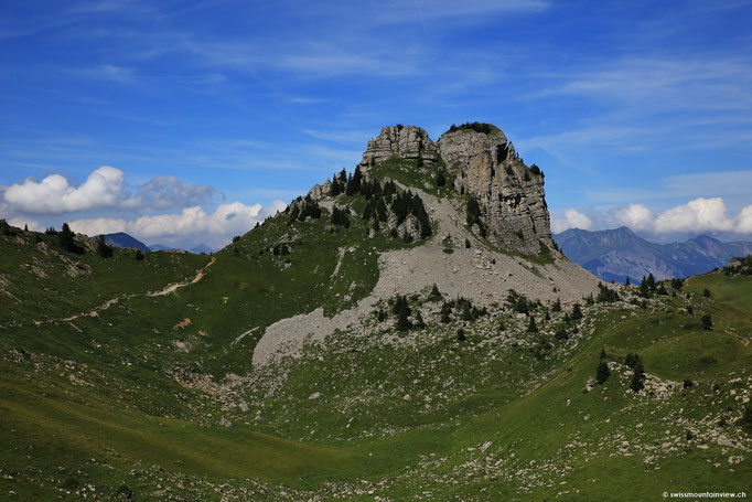 Blick zurück aufs Oberberghorn 2069 m.