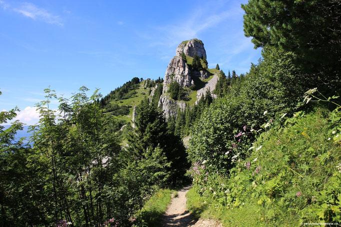 Vorbei an der Bergstation machen wir uns noch auf den Weg zur Daube, ca. 2075 m ü. M.