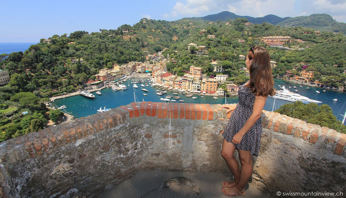 Portofino - view from Castello Brown