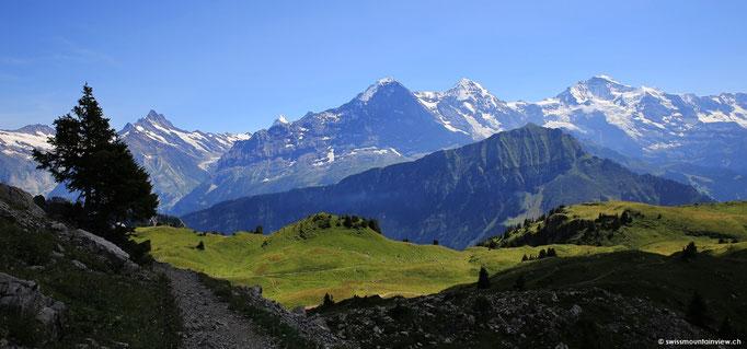 Weiter geht die Wanderung ums Oberberghorn herum und dann hinunter über's Plateau.
