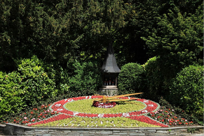 Blumenuhr in Interlaken