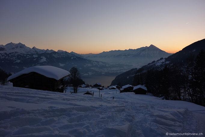Waldegg, Blick Richtung Beatenberg, Niesen