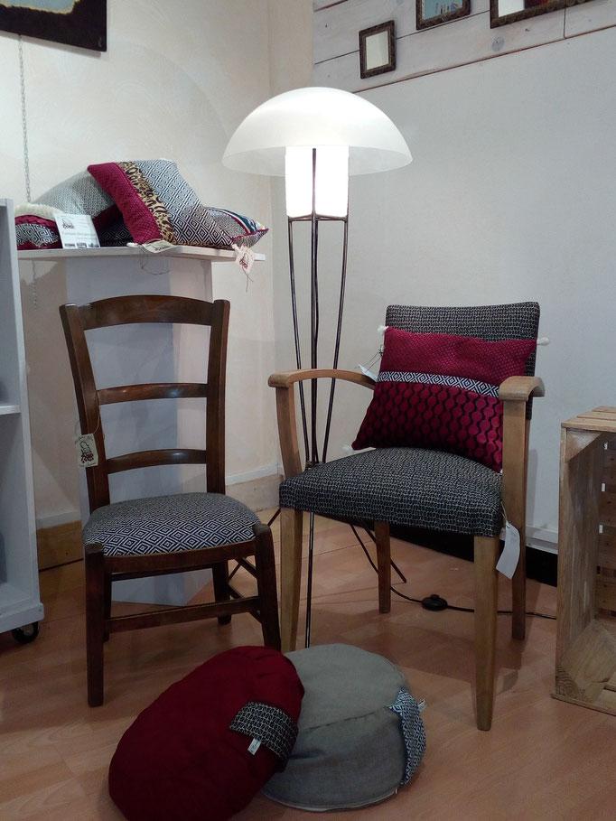 tapissier décorateur Millau Au Petit Crin fauteuil bridge