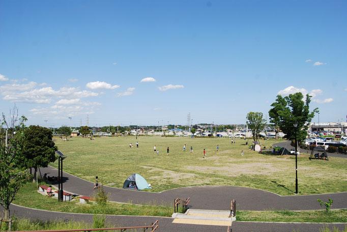 広い芝生広場ではキラキラした日差しと吹き抜ける風をからだいっぱいで受け止め、思い思いの時間を過ごしてください。