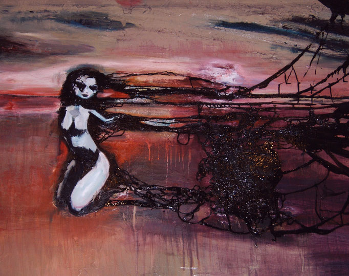 Black Heart, olieverf op canvas, ca 2004, €2000