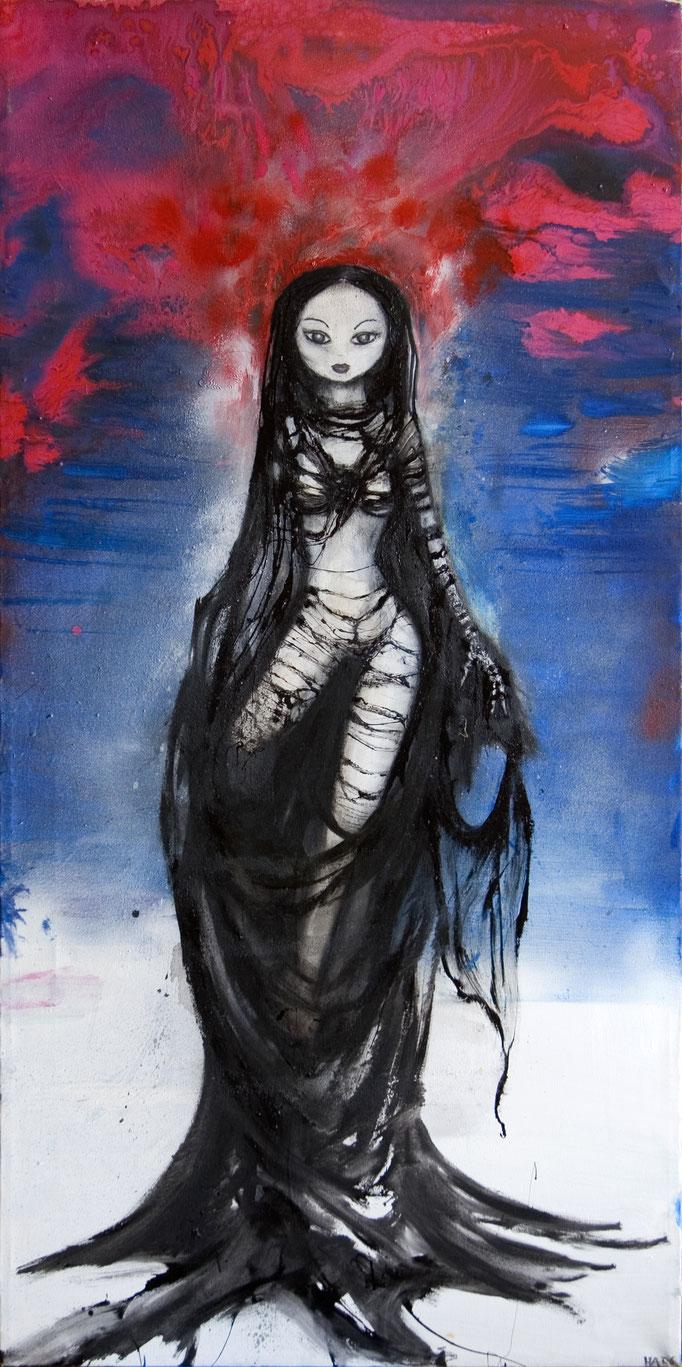 Chrysalise, olieverf op canvas, ca 2006, verkocht