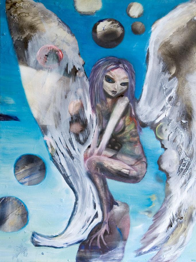 Serraphim, olieverf op canvas, ca 2006, verkocht