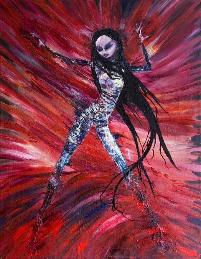 Mistress, olieverf op canvas, ca 2004, niet te koop