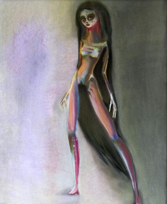 Dark World, pastel op papier, ca 2004, niet te koop