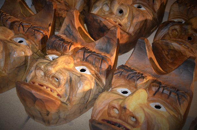 Maskenschnitzer Fasnachtsmaske Holzmaske