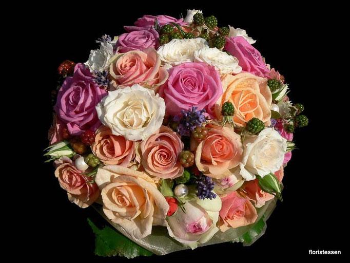 Brautstrauß bunte Rosen