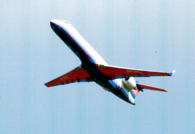 アクオス 上昇中の旅客機