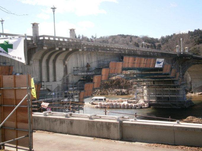 エダ 大橋の工事