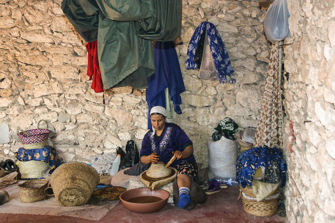 Maroc - Coopérative d'huile d'argan