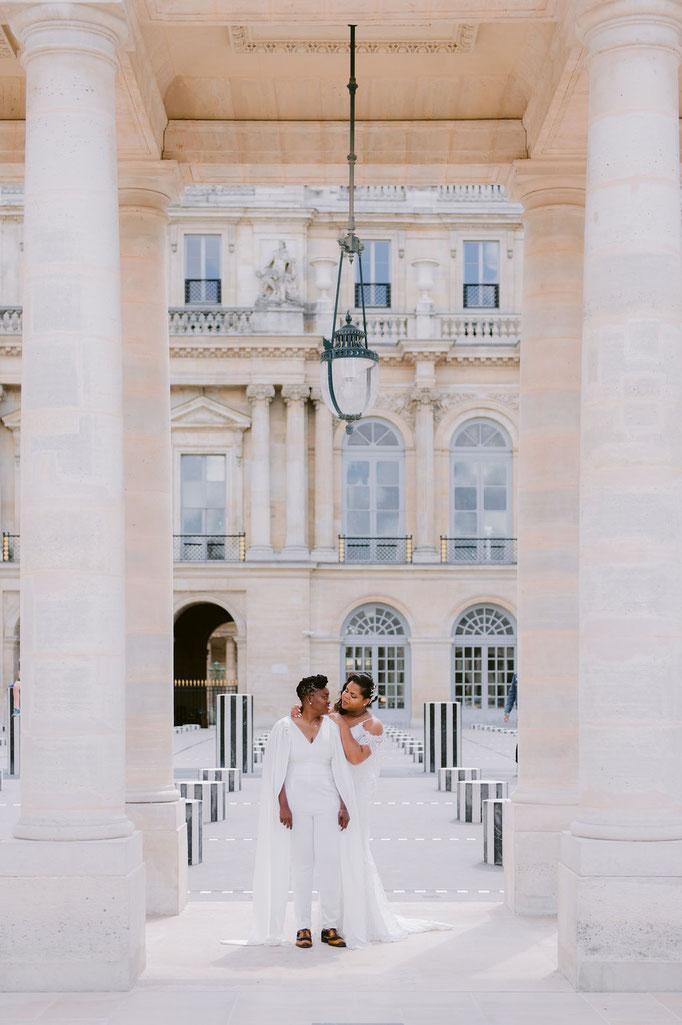 chic rooftop wedding in Paris