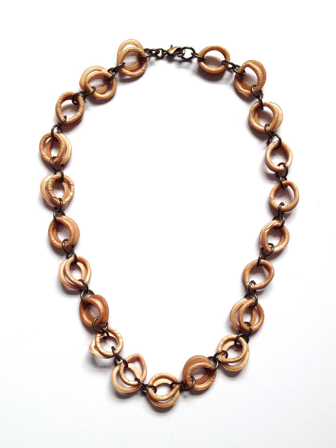 Wood Link Collar Necklace 2014