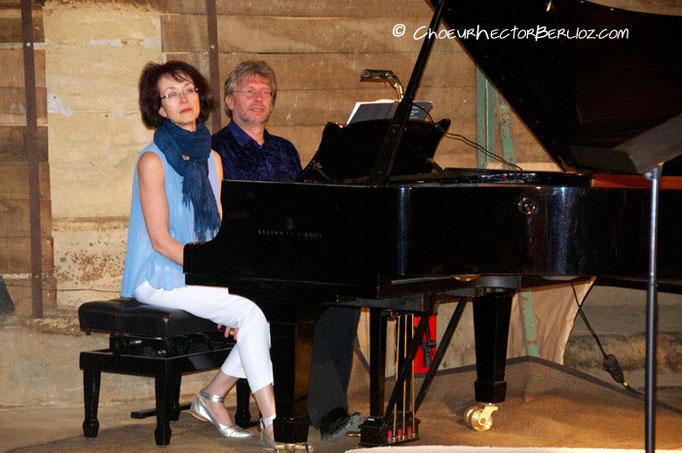 Les pianistes Marina Constancias et Franz Michel