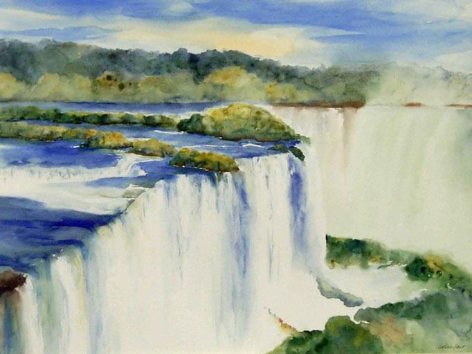 Berauschender Iguacu (Bütten,Hadern)70x100cm,(c)D.Saul 2011