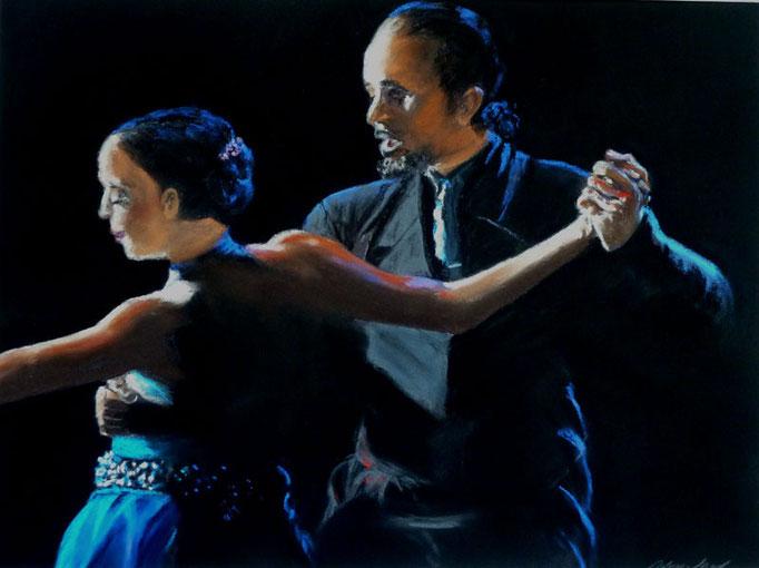 """""""Milonga por la noche""""Pastell 30x40cm, (c)D.Saul 2014"""