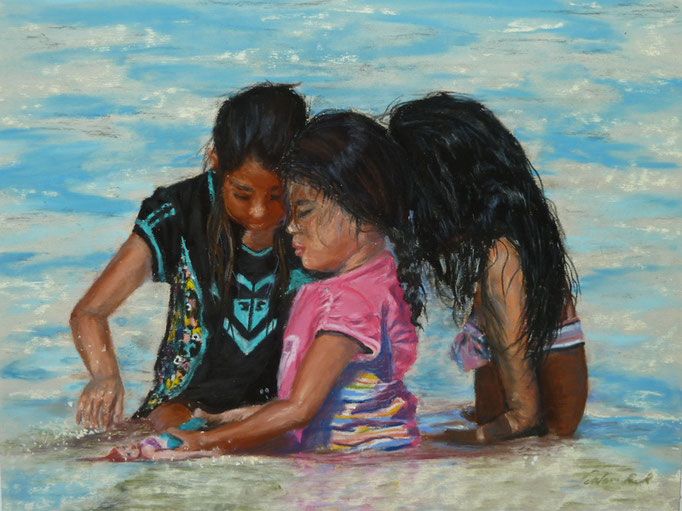 """""""Time for Arielle"""" Pastell (C) D. Saul 2016"""
