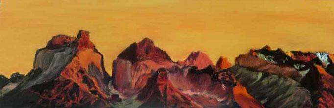 """""""Torres del Paine"""" Pastell 18x54cm, (c)D.Saul 2013, Ref. C.Berger"""
