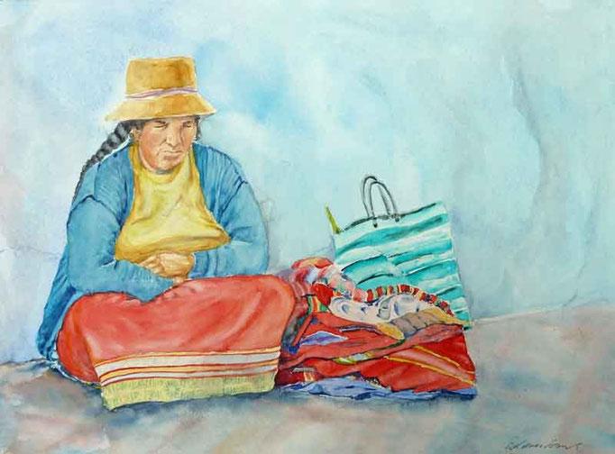 Siestea, Frau in Peru,40x50cm,(c)D.Saul 2012