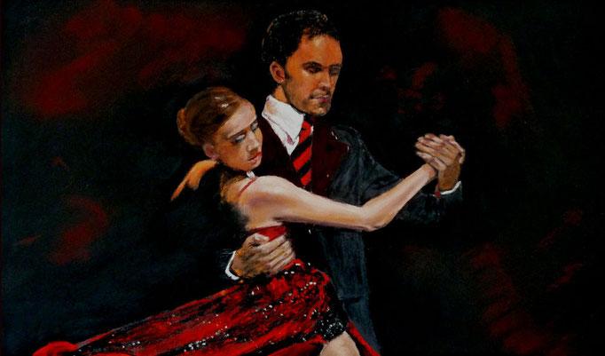 """""""Bailar de noche""""Pastell 31x50xm,(c)D.Saul 2014"""