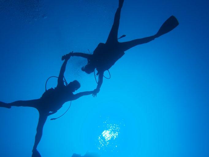 あおいろクジラでゆったりダイビング 癒しの離島 ヨロン島 最高のあおいろ