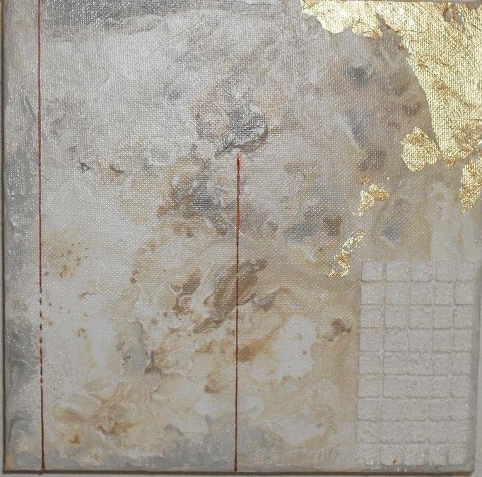 archipel carré N°3. tableau. abstrait. abstraction