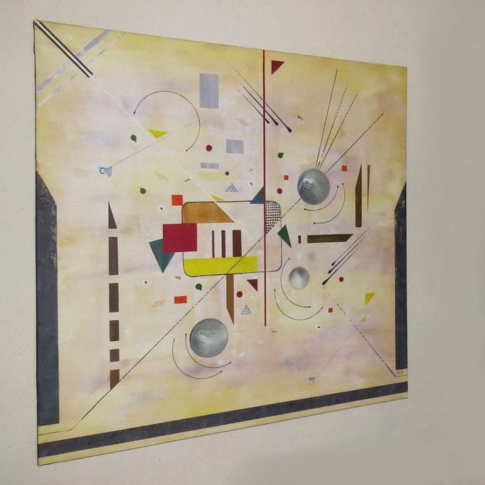entrevue vue côté1 - daluz peinture abstraite abstraction