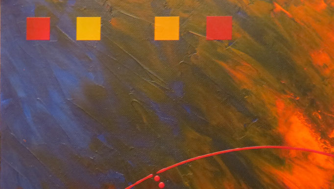 éruption. zoom3 - daluz galego tableau abstrait abstraction