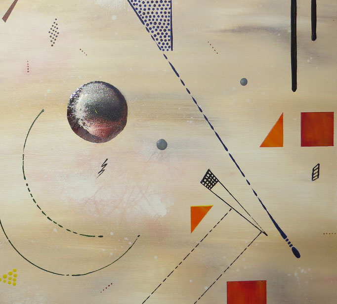 collusion zoom3 - daluz peinture abstraite abstraction
