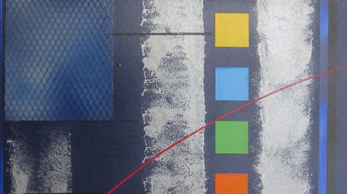 bleu d'argent vue zoom7 - daluz galego tableau abstrait abstraction